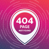 404 page not found, trendy template. Eps 10 file, easy to edit Stock Photos