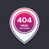 404 page not found, vector illustration. Eps 10 file, easy to edit Royalty Free Stock Photography