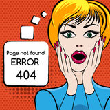Page not found vector illustration Stock Image