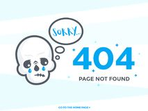 404 page not found vector template. Eps 10 file, easy to edit Stock Photography