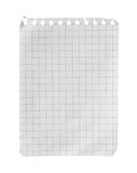The page from a notebook. The page from a notebook isolated on a white background stock images