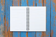 Page of notebook Stock Photo