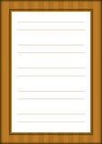 A page of notepad with decorative frame Royalty Free Stock Image
