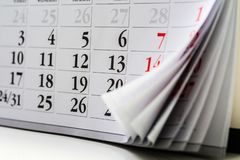 Free Page Of Calendar..the Royalty Free Stock Photos - 129565498