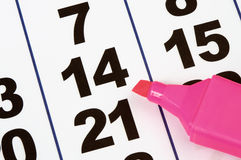 Page Of The Calendar Stock Images
