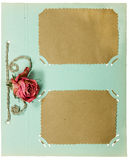 Page from an old album pistachio color Royalty Free Stock Photo