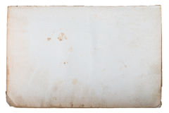 Page of old book on a white background Stock Photos