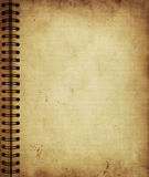 Page from old grunge notebook Royalty Free Stock Photography