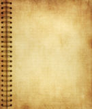 Page from old grunge notebook Royalty Free Stock Image