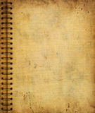 Page from old grunge notebook Stock Photography