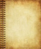 Page from old grunge notebook stock images