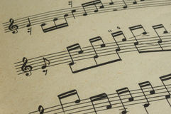 The page in an old music book Royalty Free Stock Photos