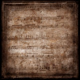Page of old sheet music Royalty Free Stock Photo