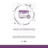 Page Optimization Content Management Web Banner With Copy Space. Vector Illustration stock illustration