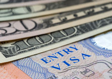 Page of passport with visa Royalty Free Stock Image