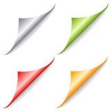 Page peel folded corner Royalty Free Stock Image