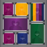 Page of photo album, with photo frames and corner Royalty Free Stock Image