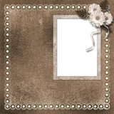Page for photo or invitation. On the vintage background Royalty Free Stock Photo