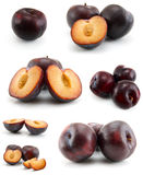Page of plums Stock Photo