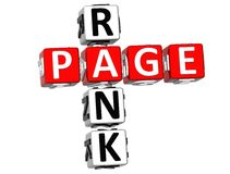 Page Rank Crossword Royalty Free Stock Photos