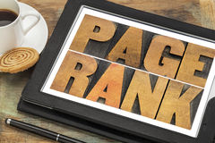Page rank - SEO concept Royalty Free Stock Photo