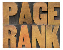 Page rank word abstract Stock Photos