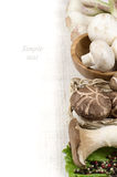 Mushroom - restaurant menu Royalty Free Stock Image