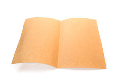 Page of rough rice paper Stock Image