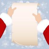 Page and Santa Stock Photo