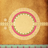 Page of scrapbook. Page of creative art vintage scrapbook royalty free stock photo