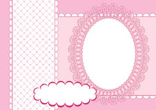 Page for scrapbook. Pink. Royalty Free Stock Image