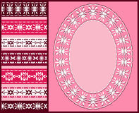 Page for scrapbook. Pink. Royalty Free Stock Photos