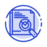 Page, Search, Web, Page Search, Layout Blue Dotted Line Line Icon stock illustration