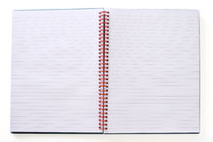 Page in a spiral bound notepad Royalty Free Stock Photo