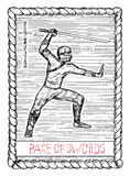 Page of swords. The tarot card. Stock Images