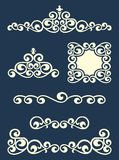 Page or text swirl dividers and decorations Stock Photo
