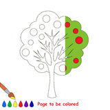 Page to be colored. Royalty Free Stock Images
