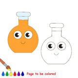 Page to be colored, simple education game for kids. Glass Vial Tube to be colored, the coloring book for preschool kids with easy educational gaming level Stock Image