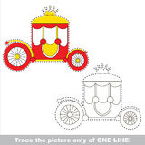 Page to be traced, kid one line tracing educational game. Stock Images