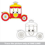 Page to be traced, kid one line tracing educational game. Stock Photos