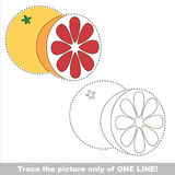 Page to be traced, kid one line tracing educational game. Stock Image