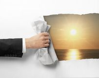 Page to sunrise Royalty Free Stock Image