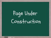 Page Under Construction Blackboard Royalty Free Stock Photography