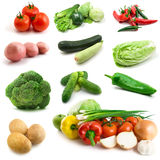Page of vegetables isolated on the white Royalty Free Stock Photos