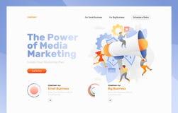 Page Web de campagne de marketing illustration libre de droits
