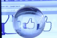 Page Web de Facebook Images stock