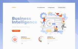 Page Web de la veille commerciale images stock