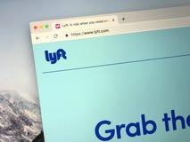 Page Web de Lyft images libres de droits