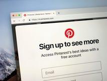 Page Web de Pinteres image libre de droits