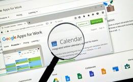 Page Web de repaires de Google Image stock